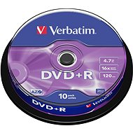 Verbatim DVD+R 16x, 10pcs cakebox - Media