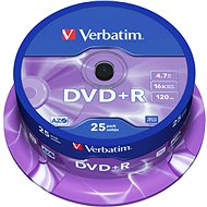 Verbatim DVD+R 16x, 25 piece cakebox