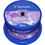 Verbatim DVD+R 16x, 50 piece cakebox - Media