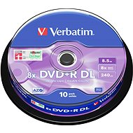 Verbatim DVD + R 8x, Dual Layer 10pcs cakebox - Media