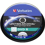 VERBATIM M-DISC DVD R 4X 4,7GB Inkjet Printable 10pcs - Media