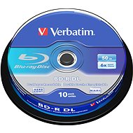 Verbatim BD-R 50GB Dual Layer 6x, 10pcs Cakebox - Media