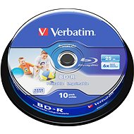 Verbatim BD-R SL 25GB Printable, 10pcs cakebox media - Media