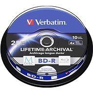 VERBATIM M-DISC BD-R SL 25GB 4x INKJET PRINTABLE spindle 10pck