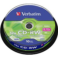 Verbatim CD-RW 10x, 10pcs cakebox - Media