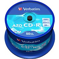 VERBATIM CD-R 80 52x CRYST. spindl 50pck - Media