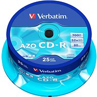 VERBATIM CD-R 80 52x CRYST. spindl 25pck - Media