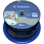 VERBATIM BD-R SL DataLife 25GB, 6x, printable, spindle 50pcs - Media