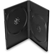 Double DVD case, black, 14mm, 10pcs - DVD Case
