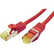 OEM S/FTP patch cable Cat 7, with RJ45 connectors, LSOH, 0.25m, red - Network Cable
