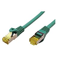 OEM S/FTP patchcable Cat 7, with RJ45 connectors, LSOH, 1m, green - Network Cable