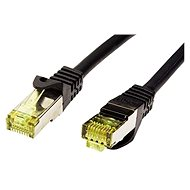 OEM S/FTP patch cable Cat 7, with RJ45 connectors, LSOH, 1m, black - Network Cable