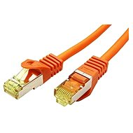 OEM S/FTP patchcable Cat 7, with RJ45 connectors, LSOH, 2m, orange - Network Cable