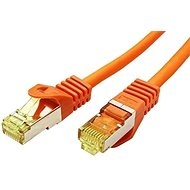OEM S/FTP patchcable Cat 7, with RJ45 connectors, LSOH, 3m, orange - Network Cable