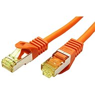 OEM S/FTP patch cable Cat 7, with RJ45 connectors, LSOH, 0.25m, orange - Network Cable