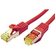 OEM S/FTP patch cable Cat 7, with RJ45 connectors, LSOH, 0.5m, red - Network Cable