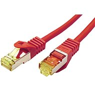 OEM S / FTP patchcable Cat 7, with RJ45 connectors, LSOH, 25m, red - Network Cable