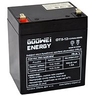 GOOWEI ENERGY OT5-12, 12V, 5Ah - Rechargeable Battery