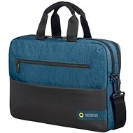 "American Tourister CITY DRIFT LAPTOP BAG 15.6"" BLACK/BLUE - Laptop Bag"