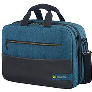 "American Tourister CITY DRIFT 3-WAY BOARDING BAG 15.6"" BLACK/BLUE - Laptop Bag"