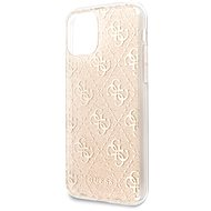 Guess 4G Glitter Back Cover for iPhone 11, Gold - Mobile Case