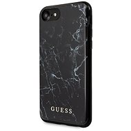 Guess Marble for iPhone 8/SE 2020, Black - Mobile Case