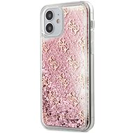 Guess 4G Liquid Glitter for Apple iPhone 12 Mini, Pink - Mobile Case