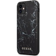 Guess PC/TPU Marble for Apple iPhone 12 Mini, Black - Mobile Case
