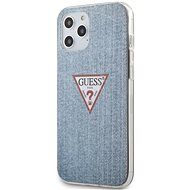 Guess PC/TPU Denim for Apple iPhone 12 Pro Max, Light Blue - Mobile Case