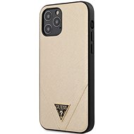 Guess Saffiano V Stitch for Apple iPhone 12/12 Pro Gold - Mobile Case