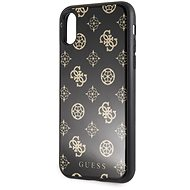 Guess Layer Glitter Peony for iPhone X/XS Black - Mobile Case