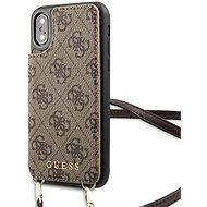 Guess 4G Crossbody Cardslot Case for iPhone X / XS Brown - Mobile Phone Case