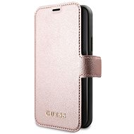 Guess Iridescent Book for iPhone 11 Pro Max, Black/Rose (EU Blister) - Mobile Phone Case