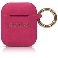 Guess Silicone Case for Airpods Fuchsia - Headphone Case
