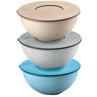 Guzzini KITCHEN ACTIVE DESIGN Set of 3 Plastic Bowls with Lid, 16cm - Bowl