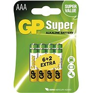 GP Super Alkaline LR03 (AAA) 6 + 2pcs in blister pack - Disposable batteries