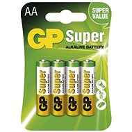 GP Super Alkaline LR6 (AA) 4 pcs in blister pack - Disposable batteries