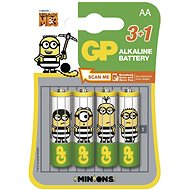 GP Minion LR6 (AA) 3+1pcs in blister - Alkaline battery
