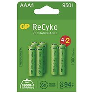 GP ReCyko 1000 AAA Rechargeable Battery (HR03), 6pcs - Rechargeable Battery