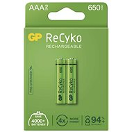 GP ReCyko 650 AAA Rechargeable Battery (HR03), 2pcs - Rechargeable Battery