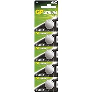 GP CR2016 Lithium 5pcs in Blister Pack - Button Cell