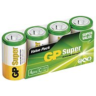 GP Alkaline Battery GP Super C (LR14), 4pcs - Disposable batteries