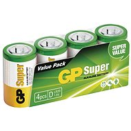 GP Alkaline Battery GP Super D (LR20), 4pcs - Disposable batteries