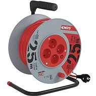 Emos Extension cable reel - 4 sockets 25m - Extension Cable