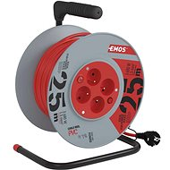 EMOS PVC Cord on Reel with Switch - 4 Sockets, 25m, 1,5mm2 - Extension Cord