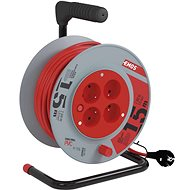EMOS PVC Extension Cable on Reel - 4 Sockets, 15m, 1mm2 - Extension Cord