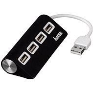 Hama USB 2.0 Hub 1:4 Black
