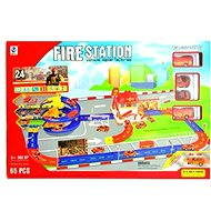 Fire station with a track - Game set