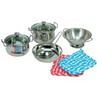 Bino A set of stainless steel cookware - Children's Toy Dishes
