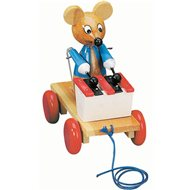 Bino pull-along toy mouse with a xylophone - Push and Pull Toy